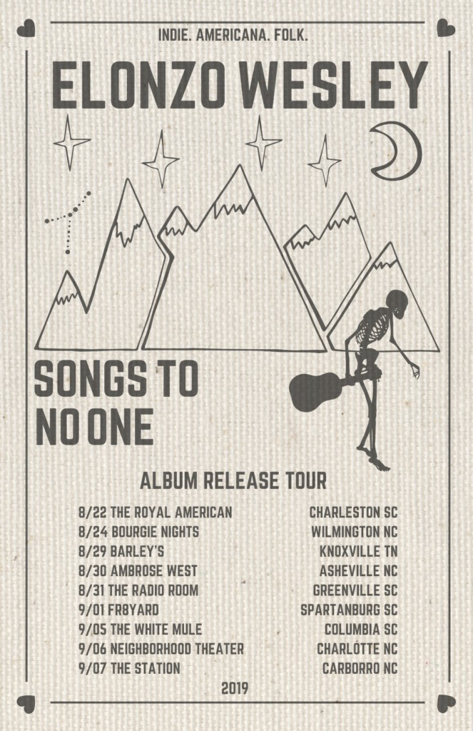 Songs to No One Tour Poster - Canvas